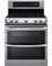 LG Stainless Steel Freestanding Double Electric Range