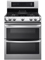 LG Stainless Steel Freestanding Double Gas Range