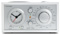 Tivoli Model Three Clock Radio In Silver And White
