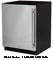 "Marvel 24"" Black Undercounter Compact Refrigerator"