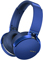 Sony Blue Extra Bass Bluetooth Over-Ear Wireless Headphones