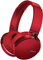 Sony Red Extra Bass Bluetooth Over-Ear Wireless Headphones
