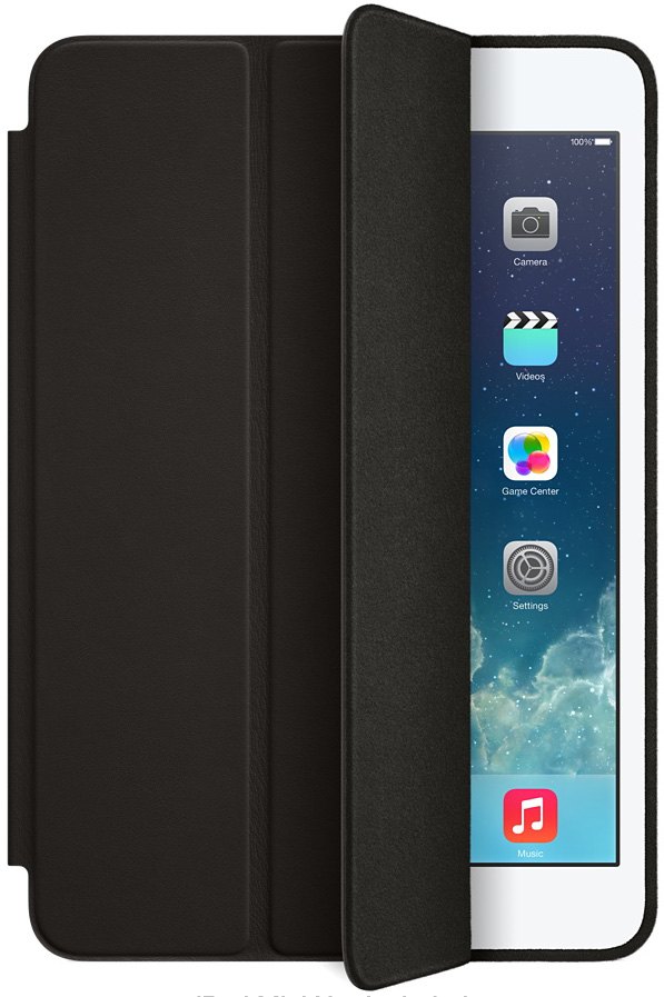 Apple Black Leather Smart Case For iPad Mini - ME710LLA