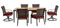 Hanover Mercer Crimson Red 7-Piece Outdoor Dining Patio Set
