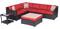 Hanover Metropolitan Autumn Berry & French Roast 6-Piece Outdoor Lounge Patio Set