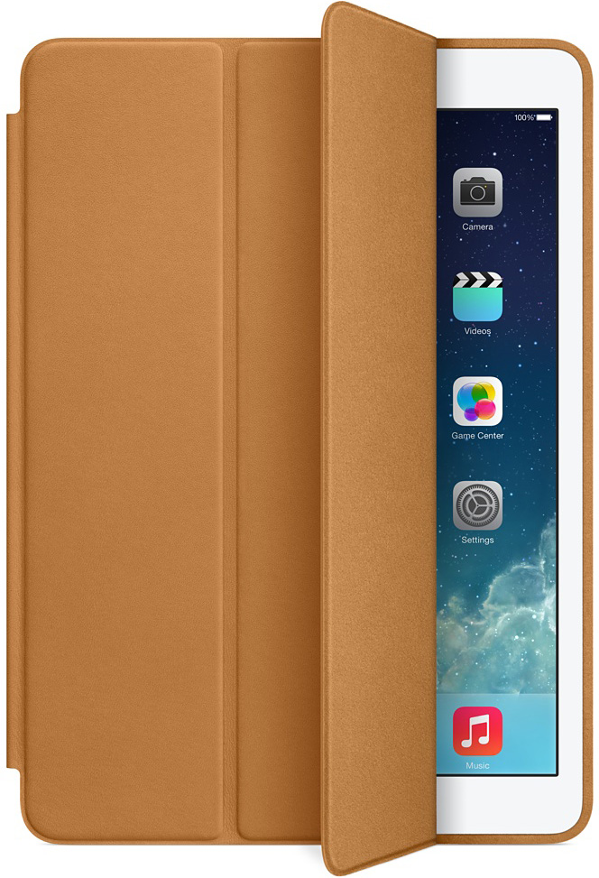 Apple Brown Leather Smart Case For iPad Air