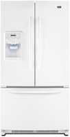 Maytag MFI2569YEW 25 Cu Ft White Bottom Freezer Refrigerator