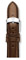 Michele 16mm Espresso Patent Leather Watch Band