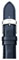Michele 16mm Navy Patent Leather Watch Band
