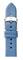 Michele 16mm Smokey Blue Thin Saffiano Leather Watch Band