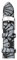 Michele 16mm Grey-Black Glitter Watch Band