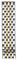 Michele 16mm Deco II 7-Link Mid-Size Two-Tone Watch Band