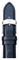 Michele 18mm Navy Patent Leather Watch Band