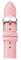 Michele 18mm Powder Pink Saffiano Leather Watch Band