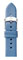 Michele 18mm Smokey Blue Thin Saffiano Leather Watch Band