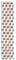 Michele Deco 18mm 7-Link Rose Gold Two-Tone Bracelet