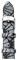 Michele 18mm Grey-Black Glitter Watch Band