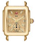 Michele Deco 16 Metallic Gold Diamond Dial Watch Head