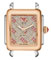 Michele Deco 16 Two Tone Rose Gold, Pink Topaz Diamond Dial Womens Watch Head