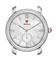 Michele Gracile Diamond Mother-Of-Pearl Dial Silver Womens Watch Head