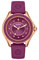 Michele Cape Rose Gold Tone Berry Topaz Dial Womens Watch