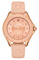 Michele Cape Rose Gold Tone Pink Topaz Dial Womens Watch