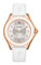 Michele Cape White Baby Pink Topaz Dial Womens Watch