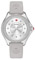 Michele Cape Grey Silver Tone Topaz Dial Womens Watch