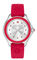 Michele Cape Red Silver Tone Topaz Dial Womens Watch