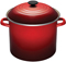 Le Creuset 10-Quart Cherry Stockpot