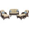 Hanover Newport 6-Piece Patio Set