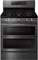 Samsung Black Stainless Steel Flex Duo Freestanding Gas Range