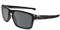 Oakley Silver Polished Black Rectangle Mens Sunglasses