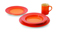 Le Creuset 4-Piece Flame Dinnerware Set