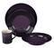 Le Creuset 4-Piece Cassis Dinnerware Set