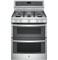 "GE Profile 30"" Stainless Steel Freestanding Double Gas Range"