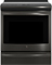 "GE Profile 30"" Black Stainless Steel Slide-In Induction Convection Range"