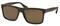 Prada Brushed Matte Brown Rectangle Frame Mens Sunglasses