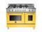 "Bertazzoni Professional Series 48"" Yellow Dual Fuel Range"