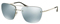 Prada Lifestyle Silver Semi-Rimless Mens Sunglasses