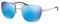Prada Lifestyle Pale Gold Semi-Rimless Mens Sunglasses