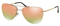 Prada Lifestyle Pale Gold Irregular Grey Mirror Rose Gold Womens Sunglasses