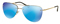 Prada Lifestyle Pale Gold Irregular Light Green Mirror Blue Womens Sunglasses