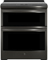 "GE Profile 30"" Black Stainless Steel Slide-In Electric Double Oven Convection Range"