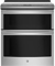 """GE Profile 30"""" Stainless Steel Slide-In Electric Double Oven Convection Range"""