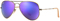 Ray-Ban Aviator Flash Lenses Violet Mirror Unisex Sunglasses