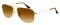 Ray-Ban Aviator Gold Frame With Amber Gradient Lens Unisex Sunglasses