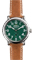 Shinola Runwell Stainless Steel Green Dial Leather Strap Mens Watch