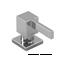 Riobel Stainless Steel Modern Square Soap Dispenser