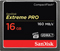 SanDisk Extreme PRO 16GB CompactFlash Memory Card